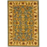 Herat Oriental Hand-Tufted Blue/Gold Area RugWool in Blue/Yellow, Size 36.0 H x 36.0 W x 0.5 D in   Wayfair WF-T602