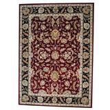 Herat Oriental Hand Tufted Wool Red/Area RugWool in Black, Size 132.0 H x 132.0 W x 0.5 D in   Wayfair WF-TSMZ40-811