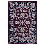 Herat Oriental Oriental Handmade Red/Area RugWool in Black, Size 36.0 H x 36.0 W x 0.5 D in | Wayfair WF-TSMZ40-23