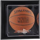 """Houston Rockets Black Framed Wall-Mountable Team Logo Basketball Display Case"""