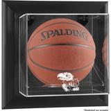 """Kansas Jayhawks Black Framed Wall-Mountable Basketball Display Case"""