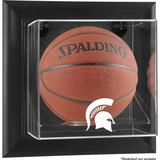 """""""Michigan State Spartans Black Framed Wall-Mountable Basketball Display Case"""""""