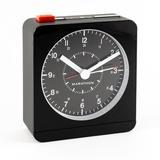 Marathon Watch Company Desk Analog Quartz Alarm Tabletop Clock Plastic/Acrylic in Black, Size 3.8 H x 3.5 W x 0.39 D in | Wayfair CL030053BK