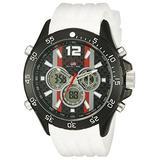 U.S. Polo Assn. Sport Men's US9527 Analog-Digital Display Analog Quartz White Watch
