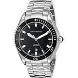 Emporio Armani Swiss Made Men's ARS9002 Analog Display Swiss Automatic Silver Watch