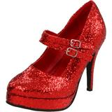 Ellie Shoes Women's 421-Jane-G Maryjane Pump,Red Glitter,12 M US