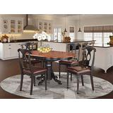 5 Pc Dining room set for 4-Oval Dining Table and 4 Dining Chairs.