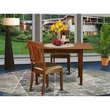 3 Pc Small Kitchen nook Dining set - Table with Leaf and 2 Dining Chairs
