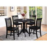 5 PC small Kitchen Table and Chairs set-round Kitchen Table and 4 dinette Chairs