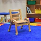 Angeles Classroom Chair Wood in Brown, Size 22.0 H x 16.0 W x 16.75 D in | Wayfair AB78C11