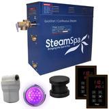 Steam Spa Royal 4.5 kW QuickStart Steam Bath Generator Package in Brown, Size 15.0 H x 19.0 W x 9.0 D in | Wayfair RYT450OB