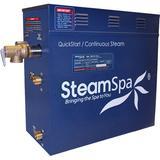 Steam Spa Indulgence 9 kW QuickStart Steam Bath Generator Package w/ Built-in Auto Drain in Gray, Size 14.5 H x 16.0 W x 6.5 D in | Wayfair