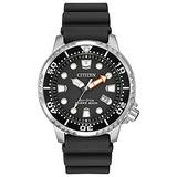Citizen Eco-Drive Promaster Diver Quartz Mens Watch, Stainless Steel with Polyurethane strap, Black (Model: BN0150-28E)