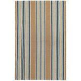 Dash and Albert Rugs Heron Stripe Flatweave Brown/Area Rug Polyester in Blue, Size 96.0 H x 60.0 W x 0.25 D in   Wayfair DA142-58