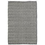 Dash and Albert Rugs Crystal Geometric Black/White Indoor/Outdoor Area Rug Polyester in Black/Brown/White   Wayfair DA175-58