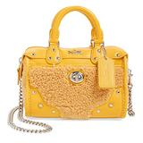 Coach Rhyder 18 Banana Leather Satchel in Shearling
