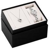 Bulova Box Set Quartz Ladies Watch, Stainless Steel Crystal , Silver-Tone (Model: 96X136)
