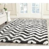 Mercer41 Hempstead Handmade Graphite/Ivory Rug Polyester/Cotton in Brown/White, Size 108.0 W x 1.75 D in   Wayfair MRCR1462 26993102