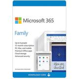 Microsoft 365 Family 6 PC or Mac Licenses / 12-Month Subscription / Download 6GQ-00091