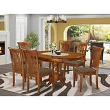 7 PC Dining room set-Oval Dining Table with Leaf and 6 Dining Chairs