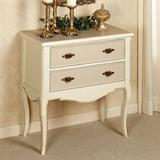 Royal Suite Two Drawer Accent Cabinet Ivory/Gold 2 Drwr, 2 Drwr, Ivory/Gold