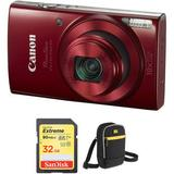 Canon PowerShot ELPH 190 IS Digital Camera with Accessory Kit (Red) 1087C001