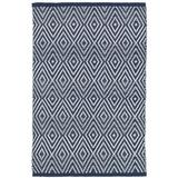 Dash and Albert Rugs Diamond Geometric Handmade Flatweave Navy/Ivory Indoor/Outdoor Area Rug Polypropylene in Brown/White, Size 72.0 W x 0.25 D in