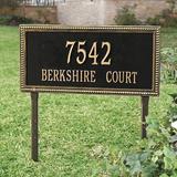 Beaded Rectangle Two Line Lawn Address Sign - Ballard Designs