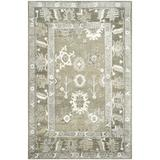 World Menagerie Nivedita Hand-Knotted Slate/Silver Area Rug Cotton/Wool/Bamboo Slat & Seagrass in Brown/Gray, Size 72.0 H x 48.0 W x 0.25 D in