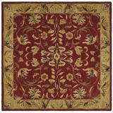 Safavieh Anatolia Hand-Tufted Wool Burgundy Area Rug Wool in Red, Size 96.0 H x 96.0 W x 0.63 D in | Wayfair AN526A-8SQ