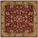 Safavieh Anatolia Hand-Tufted Wool Burgundy Area Rug Wool in Red, Size 72.0 H x 72.0 W x 0.63 D in | Wayfair AN526A-6SQ