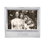 """Mariposa Expressions """"Sisters"""" Picture Frame Metal in Gray, Size 5.75 H x 6.75 W in   Wayfair 3906SI"""
