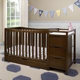 Graco Remi 4-in-1 Convertible Crib & Changer w/ Storage Wood in Brown, Size 35.94 H x 29.53 W x 71.77 D in | Wayfair 04586-219