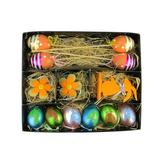 """Northlight Seasonal 13 Piece Easter Egg Flower & Bunny Spring Decoration Pick Set, Plastic in Yellow/Blue/Green, Size 1.5"""" L x 1.5"""" W x 10"""" H"""