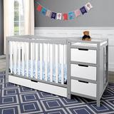 Graco Remi 4-in-1 Convertible Crib & Changer w/ Storage Wood in Gray/White, Size 35.94 H x 29.53 W x 71.77 D in | Wayfair 04586-211F