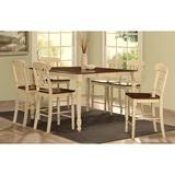 Infini Furnishings 7 Piece Counter Height Dining Set Wood in Brown/White, Size 36.0 H in | Wayfair INF70430-32JB