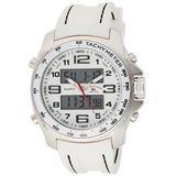 U.S. Polo Assn. Sport Men's Quartz Metal and Rubber Casual Watch, Color:White (Model: US9320)