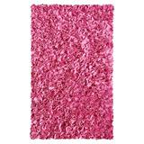 The Conestoga Trading Co. Handmade Shag Cotton Pink Area Rug Plastic in Brown/Pink, Size 34.0 H x 22.0 W x 0.75 D in | Wayfair CNTC4702 27672202