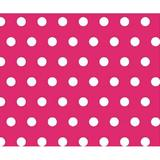 Sheetworld Polka Dots Travel Crib Light Fitted Crib Sheet Cotton in Pink, Size 24.0 W x 42.0 D in | Wayfair BB-W917