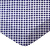 Sheetworld Gingham Check Travel Crib Light Fitted Crib Sheet Cotton in Indigo, Size 24.0 W x 42.0 D in   Wayfair BB-W945