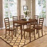 Winston Porter Alyster Geometric Brown/Beige Area Rug Polyester in Brown/White, Size 132.0 H x 96.0 W in | Wayfair HOHN2958 26431829