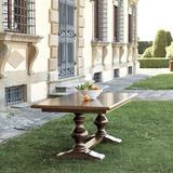 Casa Florentina Tarvine Double Pedestal Extension Dining Table - Custom - Ballard Designs