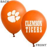 """Clemson Tigers Orange 10-Pack 11"""" Latex Balloons"""