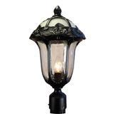 Special Lite Products Rose Garden 3-Light Lantern Head Aluminium/Metal in Black, Size 22.5 H x 12.75 W x 12.75 D in | Wayfair F-3710-BLK-AB