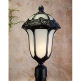 Special Lite Products Rose Garden 1-Light Lantern Head Aluminium/Metal in Black/Gray, Size 22.5 H x 12.75 W x 12.75 D in | Wayfair F-3710-BLK-AB