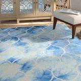 Winston Porter Coleman Hand-Tufted Cotton/Wool Blue/Ivory Area Rug Cotton/Wool in White, Size 60.0 H x 36.0 W x 0.25 D in | Wayfair