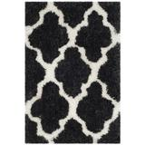 House of Hampton® Shag Cotton Black; Ivory Area Rug Polyester/Cotton in White, Size 60.0 H x 36.0 W x 1.75 D in | Wayfair HOHN5274 28389906
