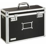 Vaultz® Vaultz Locking Personal File Tote for Legal Size Documents Aluminum in Black/Gray, Size 12.25 H x 17.0 W x 6.75 D in | Wayfair VZ01189