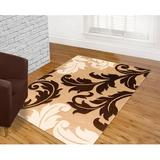 Brady Home Abstract Floral Champagne Area Rug Polypropylene in White, Size 132.0 H x 96.0 W in | Wayfair AC-CHAMP288-811