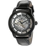 Invicta Men's 'Vintage' Automatic Stainless Steel and Leather Casual Watch, Color:Black (Model: 22572)